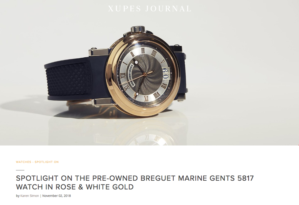 Breguet Marine Gents 5817 Watch in Rose & White Gold